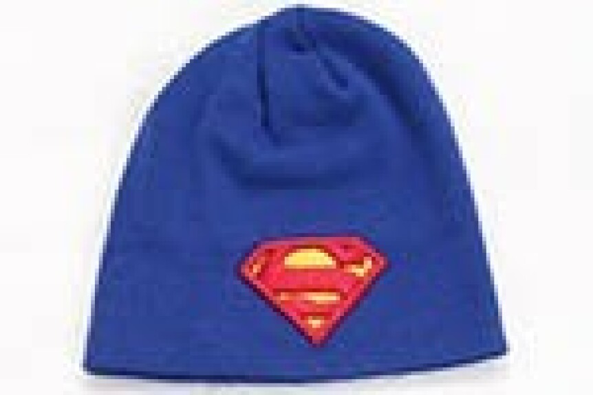Bonnet Superman bleu cobalt logo classique