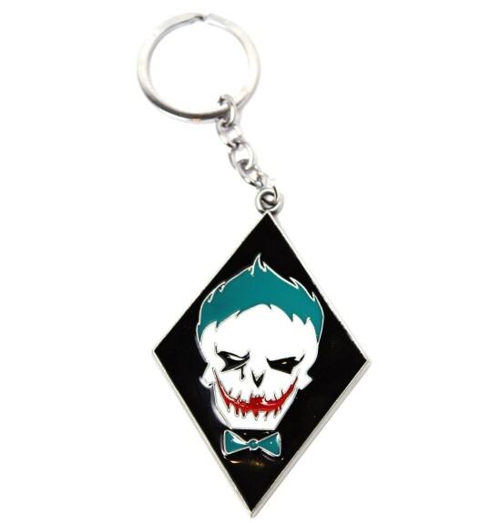 Porte-clés Joker logo tête de mort Joker Suicide Squad