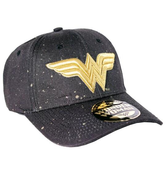 Casquette Wonder Woman logo doré brodé