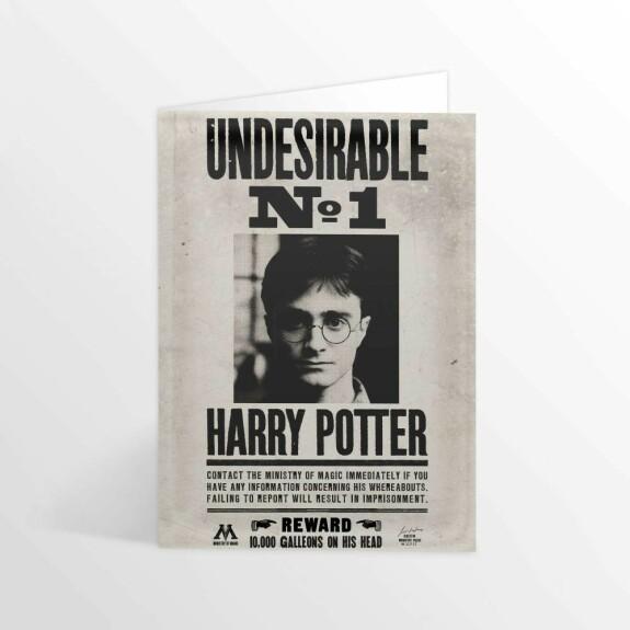 Carte de voeux lenticulaire Harry Potter Indésirable No.1 MinaLima
