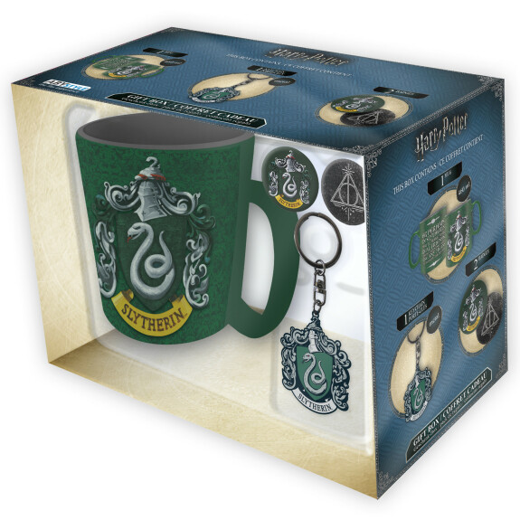 Pack Mug + Porte-clés + Badges Serpentard
