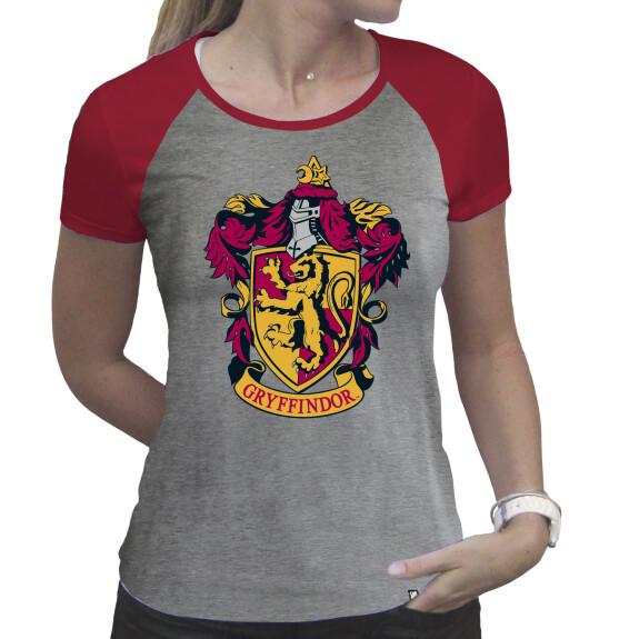 T-shirt Gryffondor Femme Gris et Rouge premium