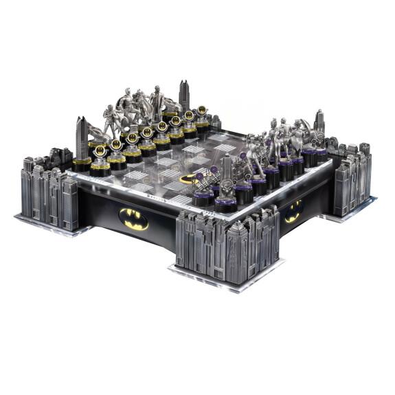 Échiquier Batman contre le Joker pièces métal