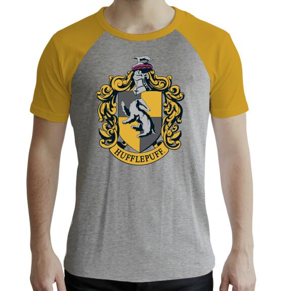 T-shirt Poufsouffle Gris et Jaune premium