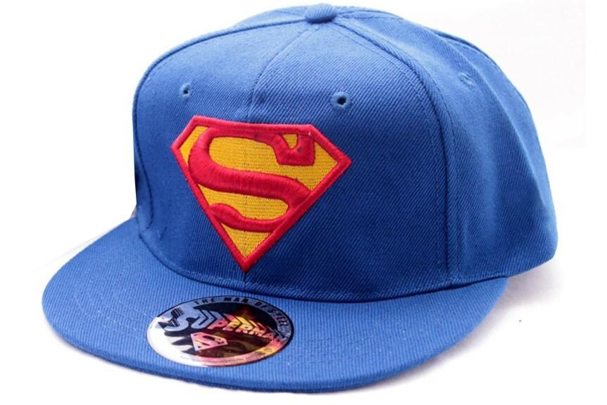 Casquette Superman bleue logo classique visière plate