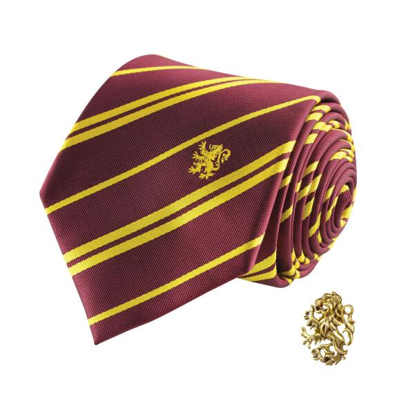 Cravate Deluxe Gryffondor avec pin's