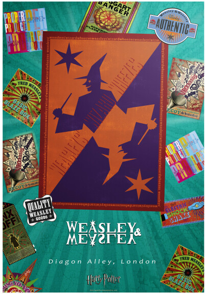 Poster Magasin Weasley