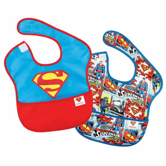 Pack de 2 super bavoirs imperméables Superman