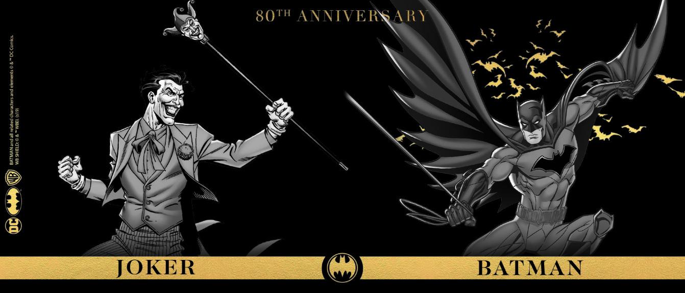 Mug Batman contre le Joker Anniversaire Batman 80 ans