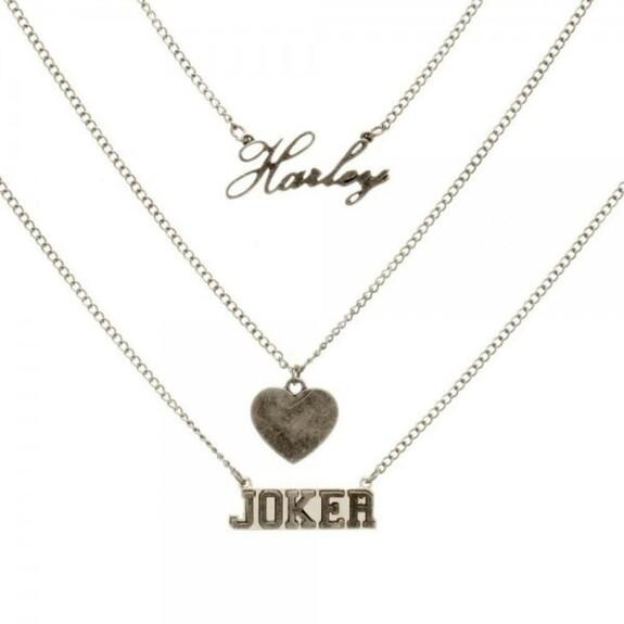 Pendentifs Harley Quinn loves Joker Suicide Squad