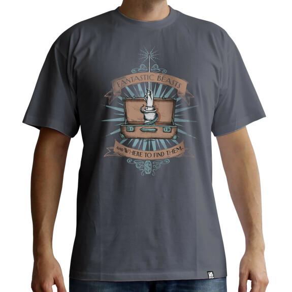 T-shirt Norbert Dragonneau Valise gris foncé