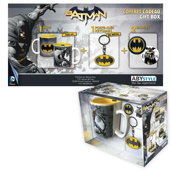 Coffret cadeau Batman mug porte clés 2 badges
