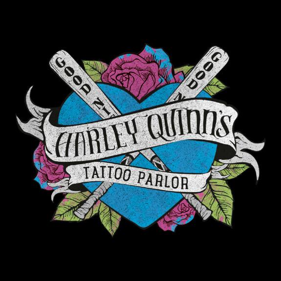 Sweat Femme Harley Quinn Tattoo Parlor couleur noir