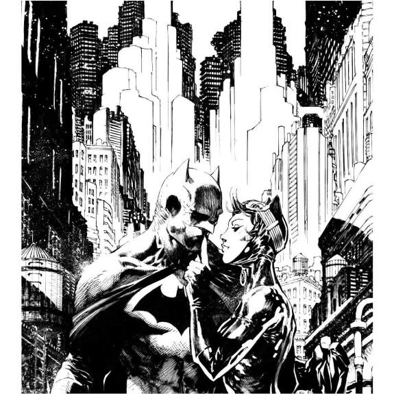 Sweat Femme Batman et Catwoman Superlove by Jim Lee