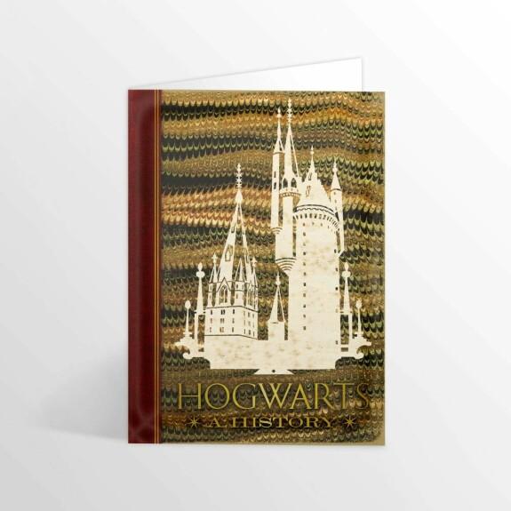Carte 2 volets Histoire de Poudlard MinaLima