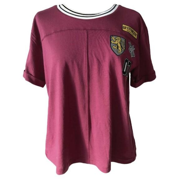 T-shirt Femme Gryffondor Patches bordeaux