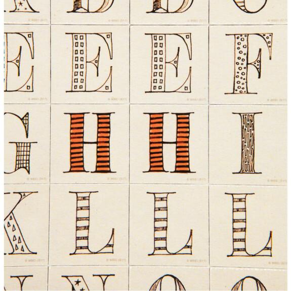 Lot de 63 magnets Alphabet Harry Potter MinaLima