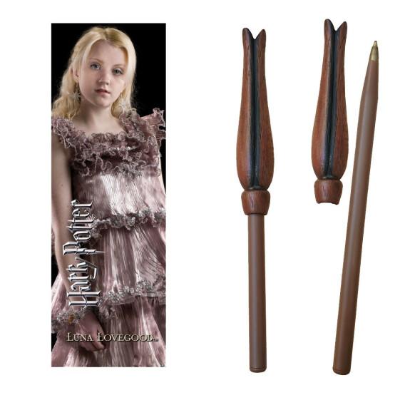 Kit stylo baguette magique et marque-page Luna Lovegood