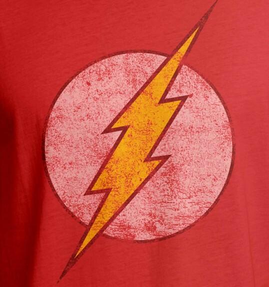 T-shirt Flash logo grunge