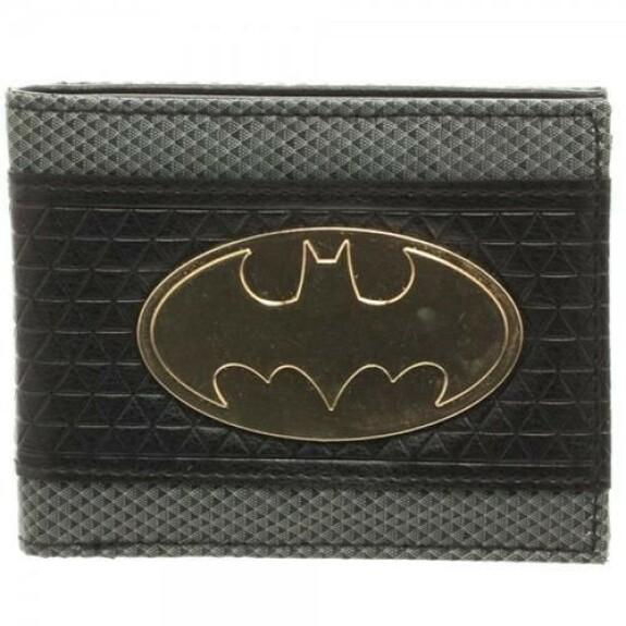 Portefeuille Batman logo métal