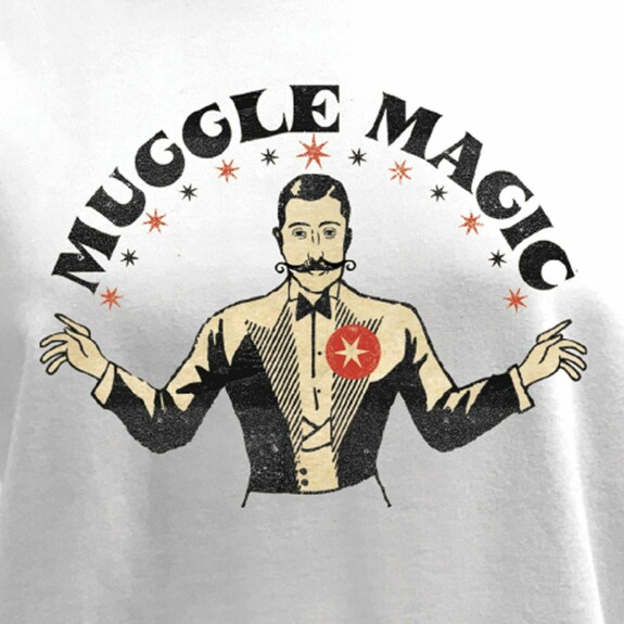 Sweat Femme Muggle Magic blanc
