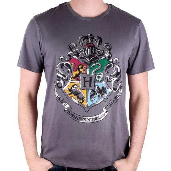 T-shirt blason Poudlard gris