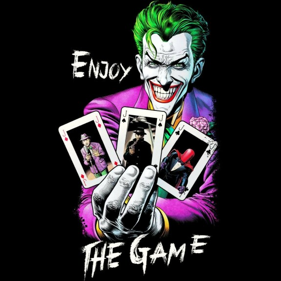 T-shirt Joker Enjoy The Game noir