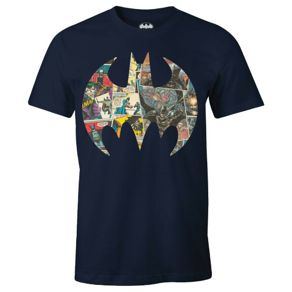 T-shirt Batman Comic Strip 80th Anniversary Navy
