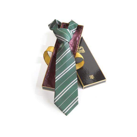 Cravate maison Serpentard vert et argent