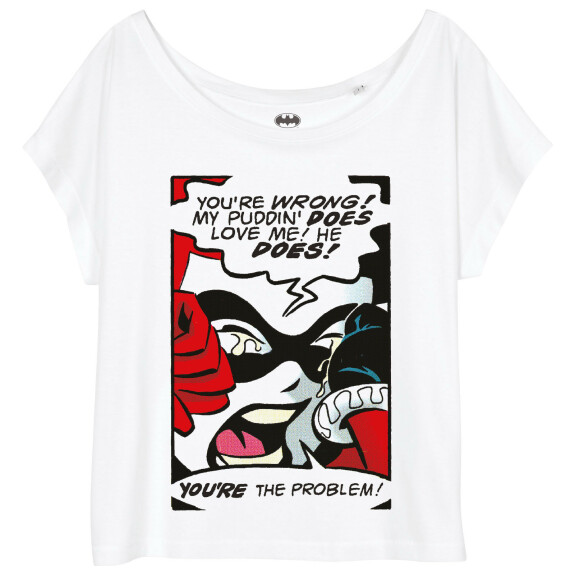 T-shirt Femme Harley Quinn Tears couleur blanc