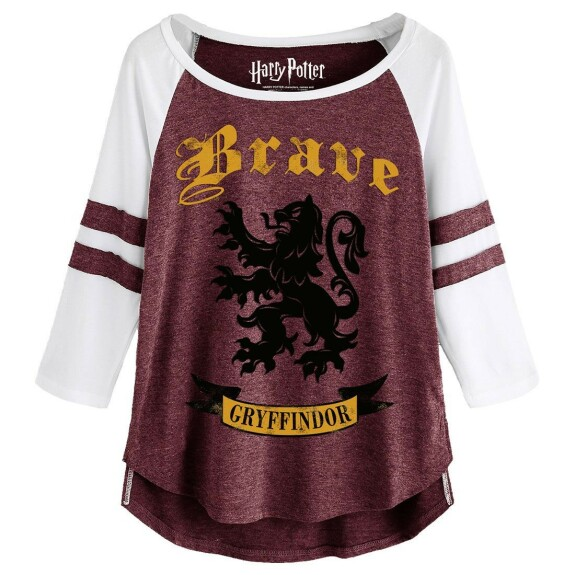 T-shirt Femme Gryffondor Brave rose