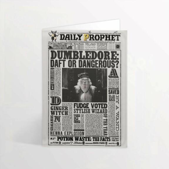 Carte de voeux lenticulaire Albus Dumbledore idiot ou dangereux MinaLima