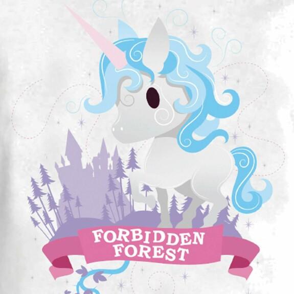 T-shirt Fille Forbidden Forest blanc