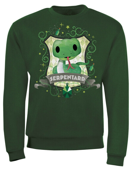 Sweat-shirt Enfant Chibi Serpentard