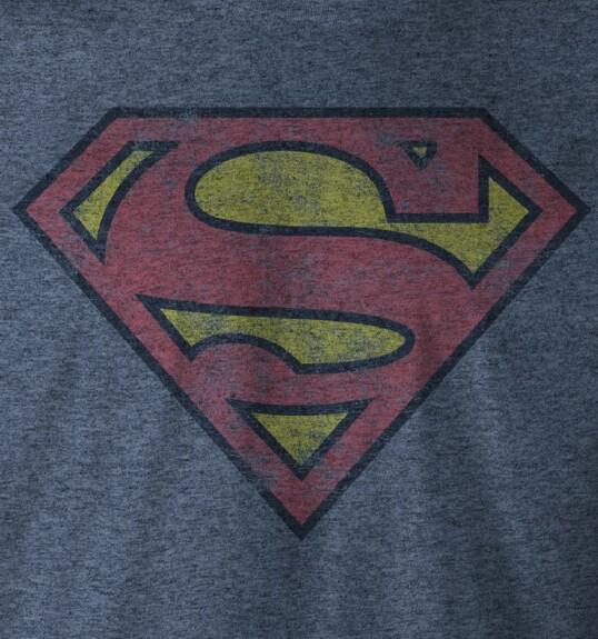 T-shirt Superman logo grunge