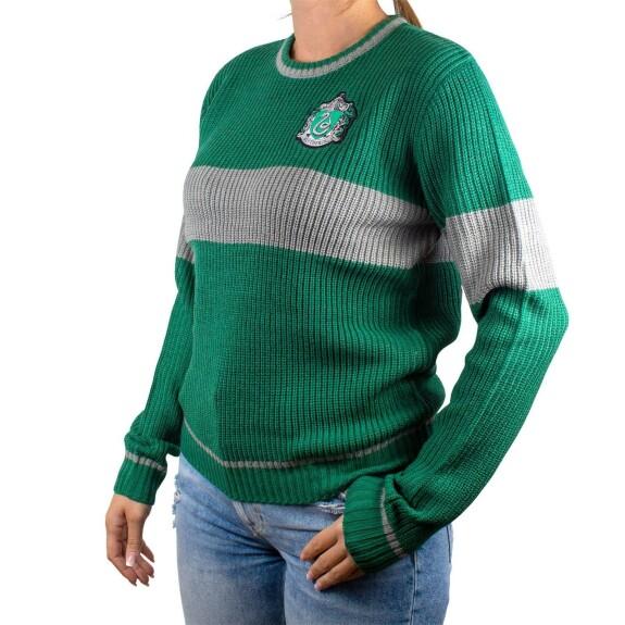 Pullover Femme Serpentard vert et gris