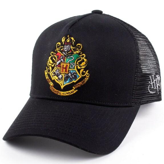 Casquette noire Logo Poudlard visière arrondie