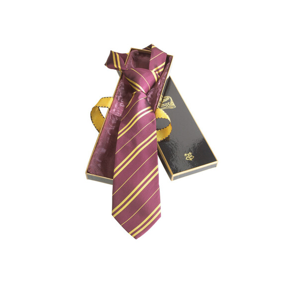 Cravate de Harry Potter Gryffondor pourpre et or