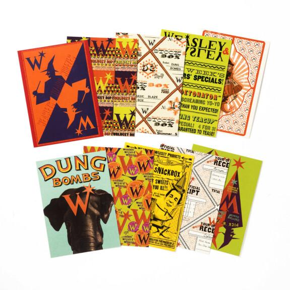 Lot de 20 cartes postales - Weasley, Farces pour sorciers facétieux