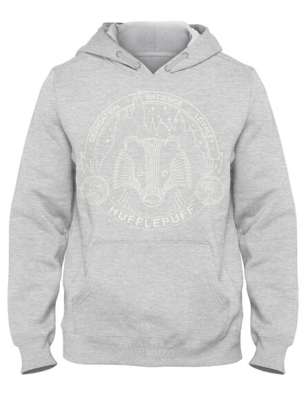 Sweat-shirt Poufsouffle gris