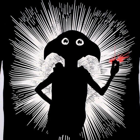 T-shirt Dobby Magic Shadow noir