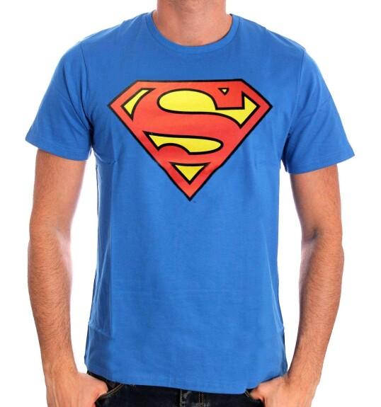 T-shirt Superman bleu logo classique