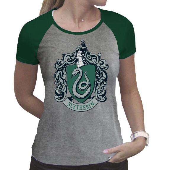 T-shirt Serpentard Femme gris et vert