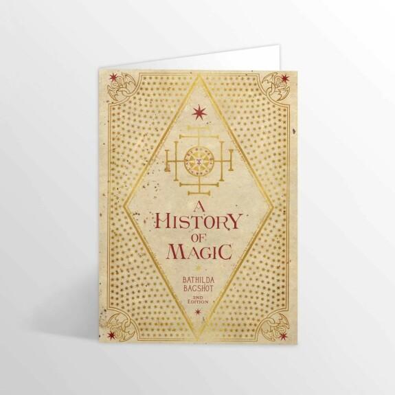 Carte 2 volets Une Histoire de la Magie MinaLima