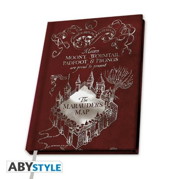 Cahier A5 Carte du Maraudeur