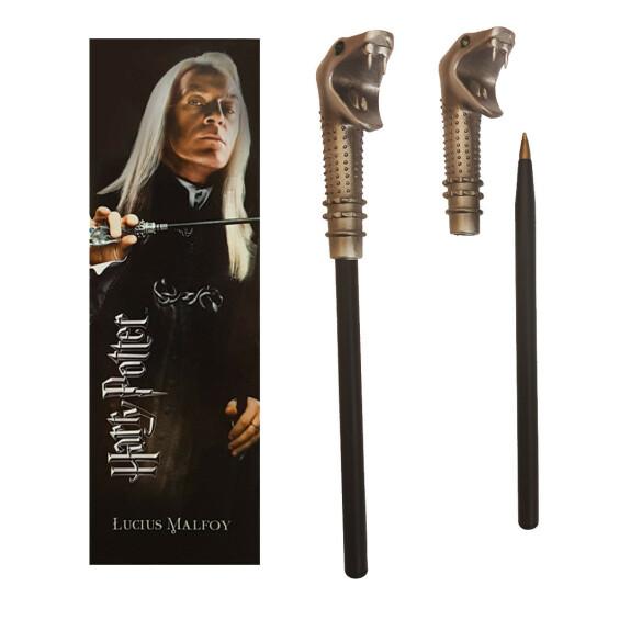 Kit stylo baguette magique et marque-page Lucius Malefoy
