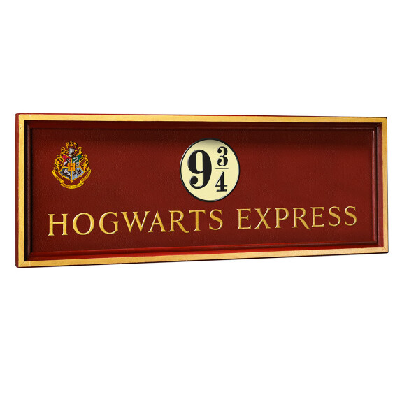 Plaque Poudlard Express Quai 9 3/4
