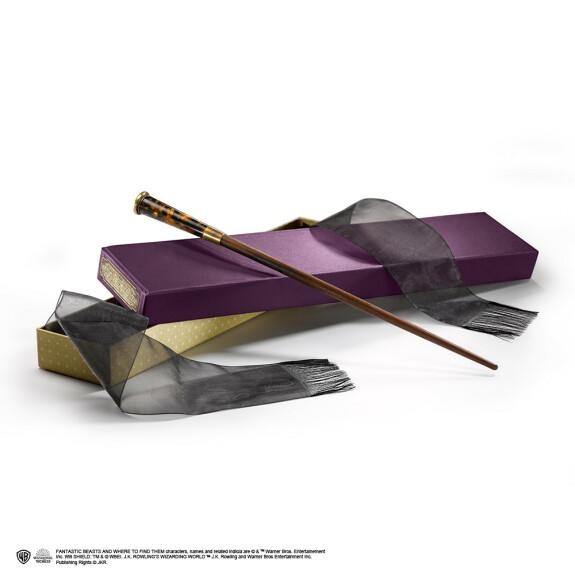 Baguette magique Thésée Dragonneau avec boîte Ollivander