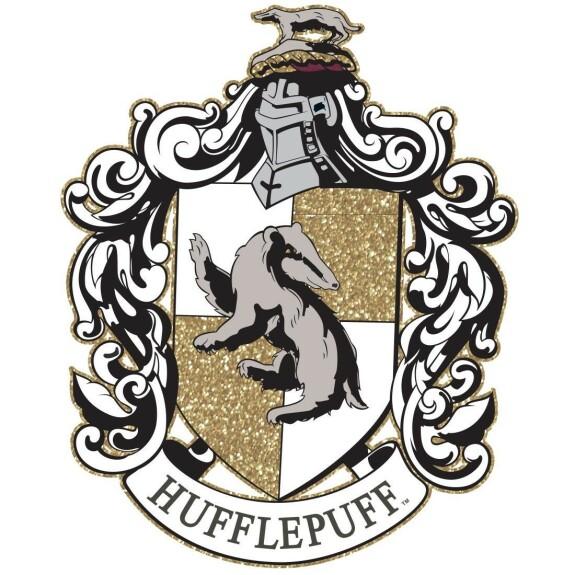 T-shirt Femme blanc et noir emblème Poufsouffle