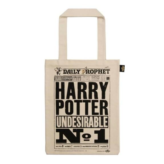 Sac en toile La Gazette du Sorcier Harry Potter Indésirable Numéro 1 MinaLima